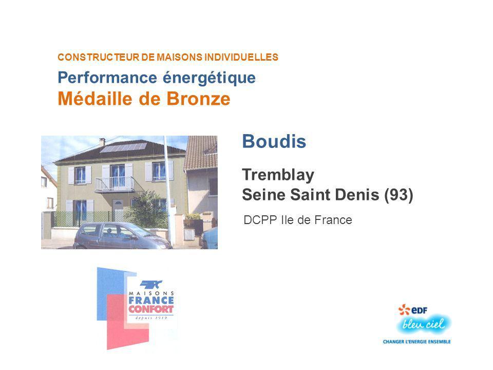 Médaille de Bronze Boudis Performance énergétique Tremblay