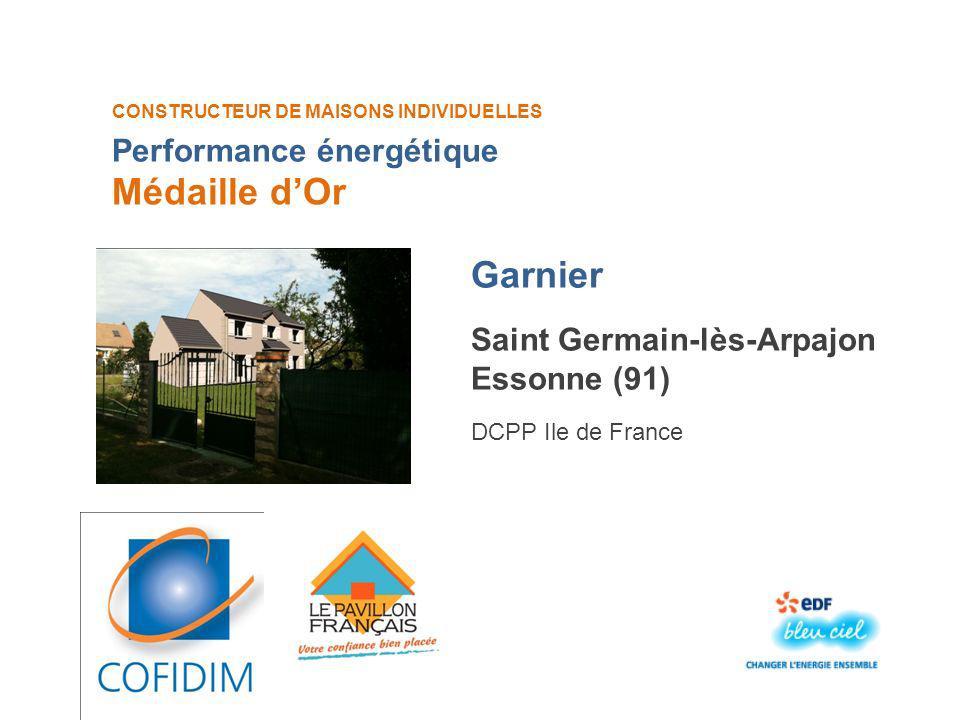 Médaille d'Or Garnier Performance énergétique