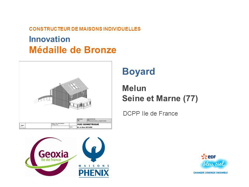 Médaille de Bronze Boyard Innovation Melun Seine et Marne (77)