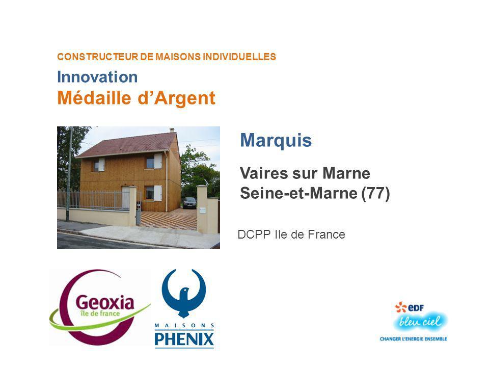 Médaille d'Argent Marquis Innovation Vaires sur Marne