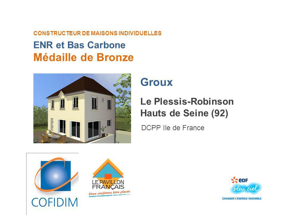 Médaille de Bronze Groux ENR et Bas Carbone Le Plessis-Robinson