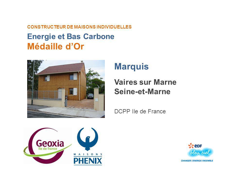 Médaille d'Or Marquis Energie et Bas Carbone Vaires sur Marne