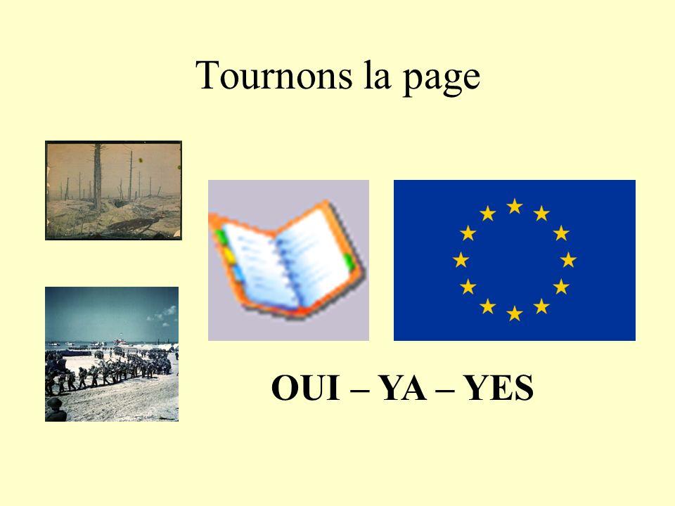 Tournons la page OUI – YA – YES