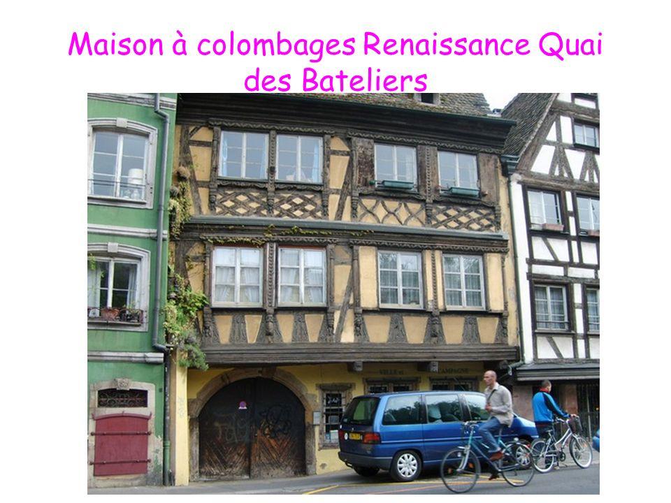 Maison à colombages Renaissance Quai des Bateliers