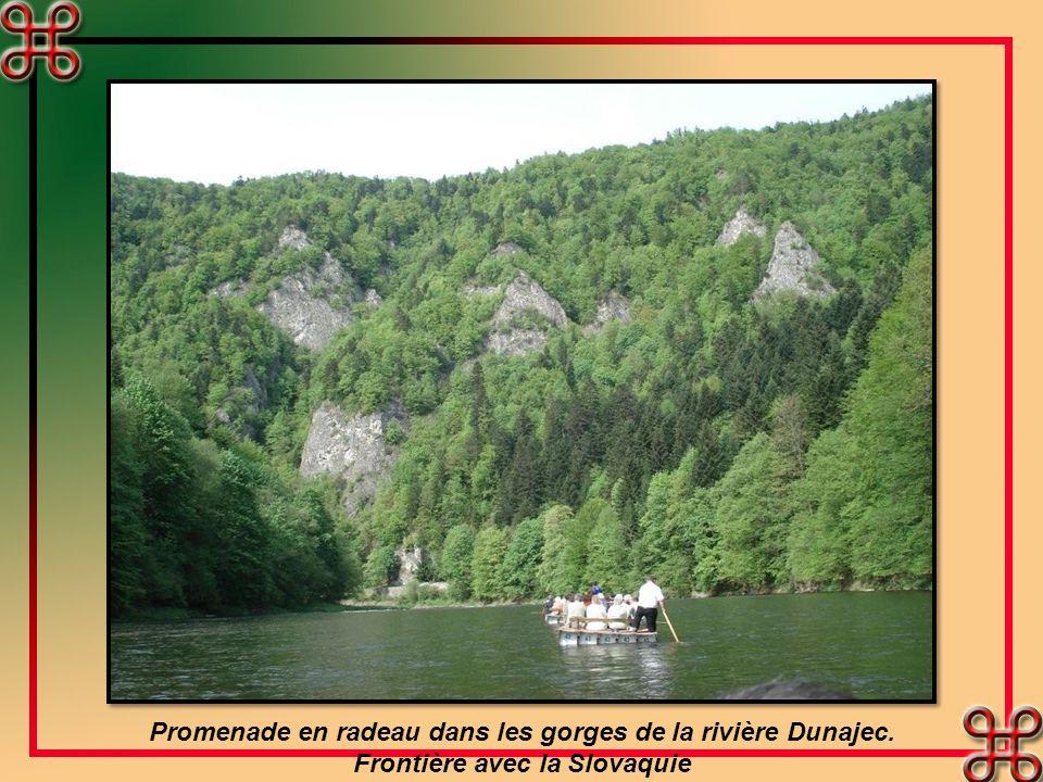 Promenade en radeau dans les gorges de la rivière Dunajec.