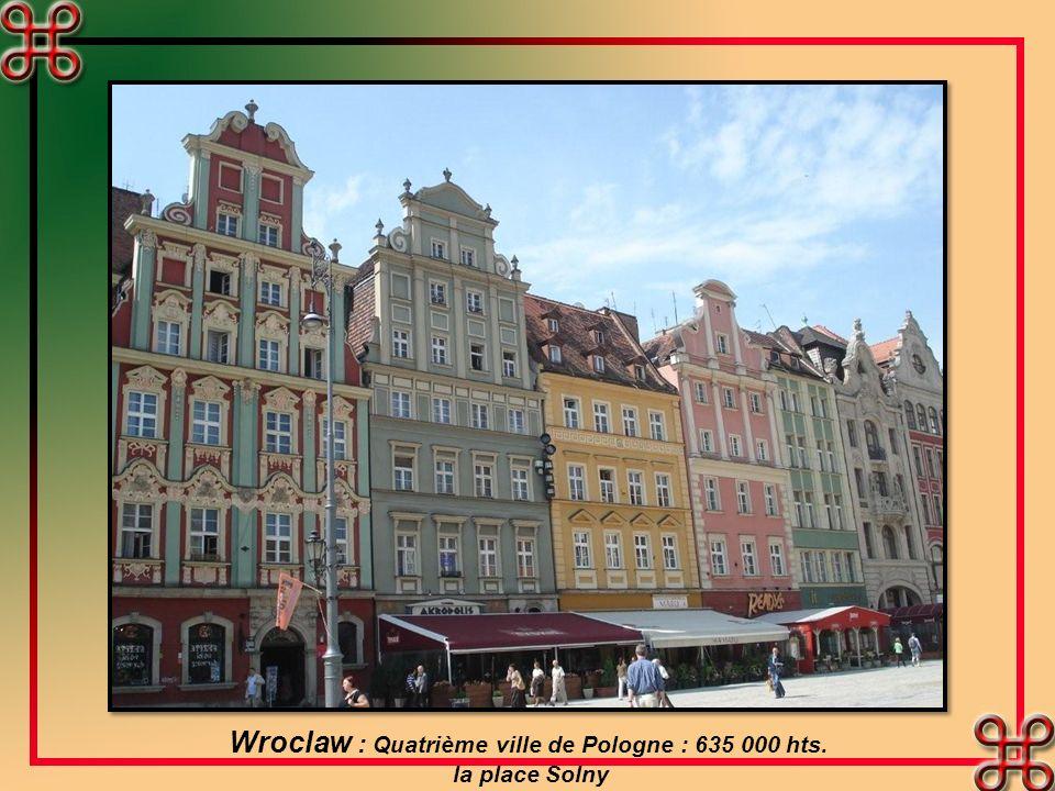 Wroclaw : Quatrième ville de Pologne : 635 000 hts.
