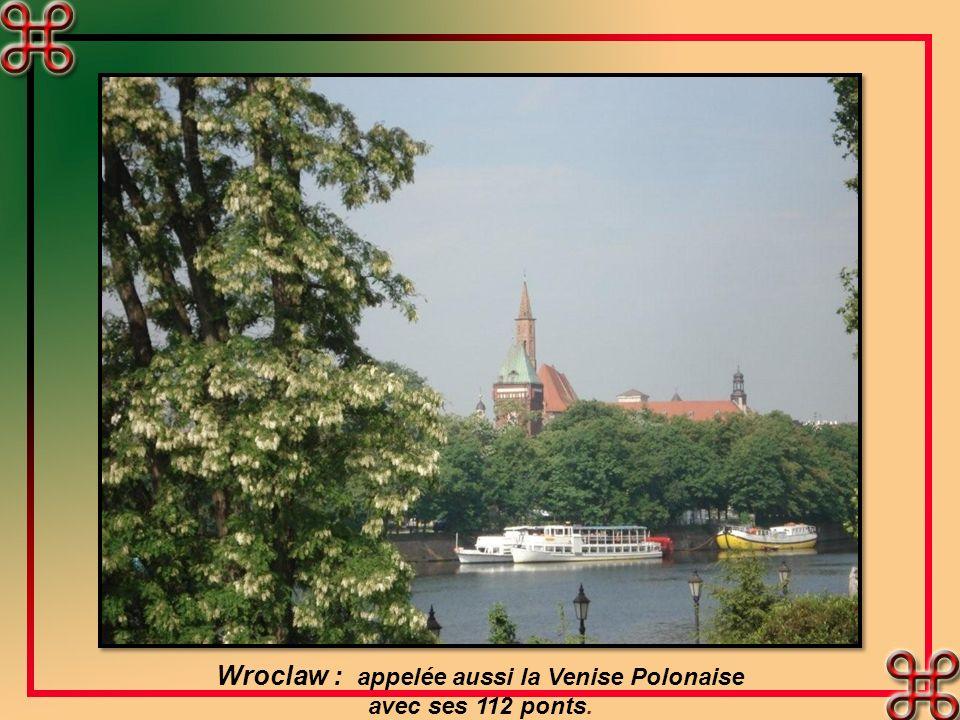 Wroclaw : appelée aussi la Venise Polonaise