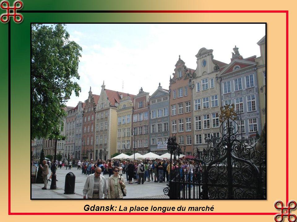 Gdansk: La place longue du marché