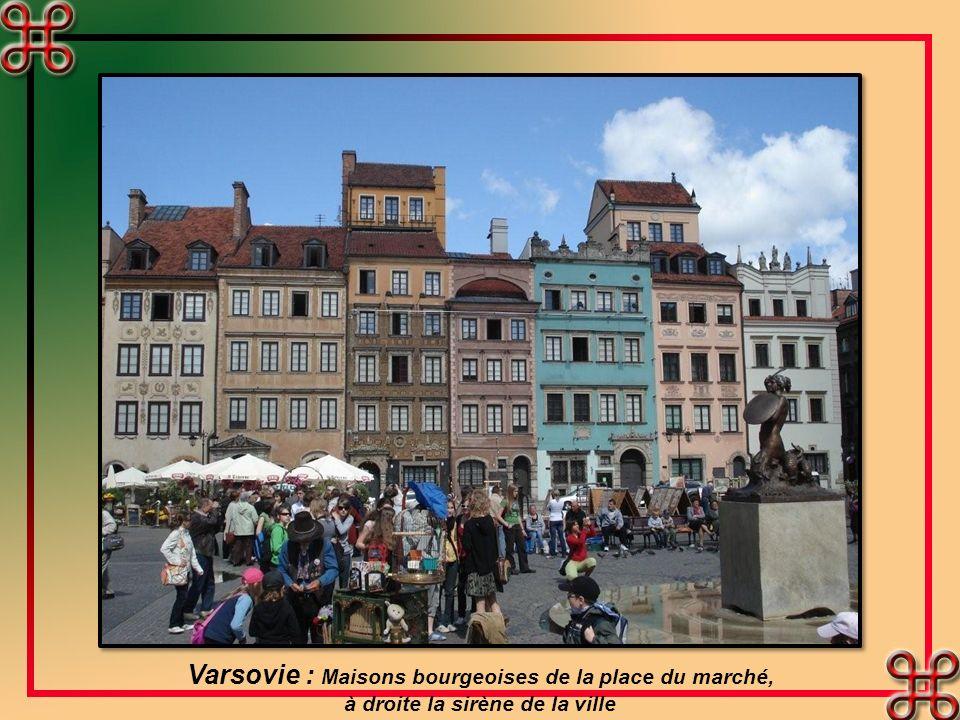 Varsovie : Maisons bourgeoises de la place du marché,