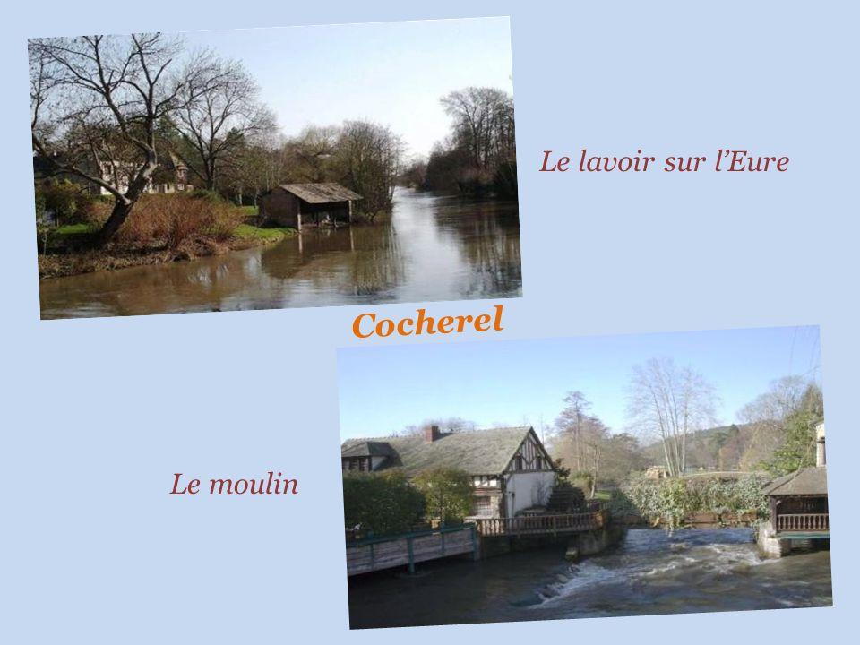Le lavoir sur l'Eure Cocherel Le moulin