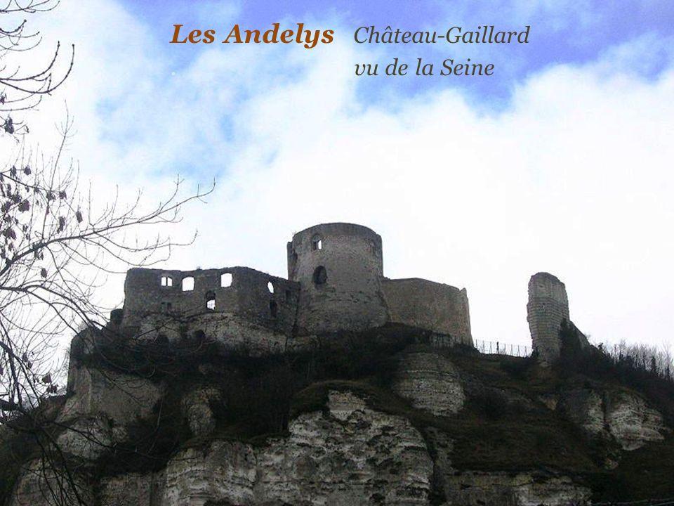Les Andelys Château-Gaillard . vu de la Seine