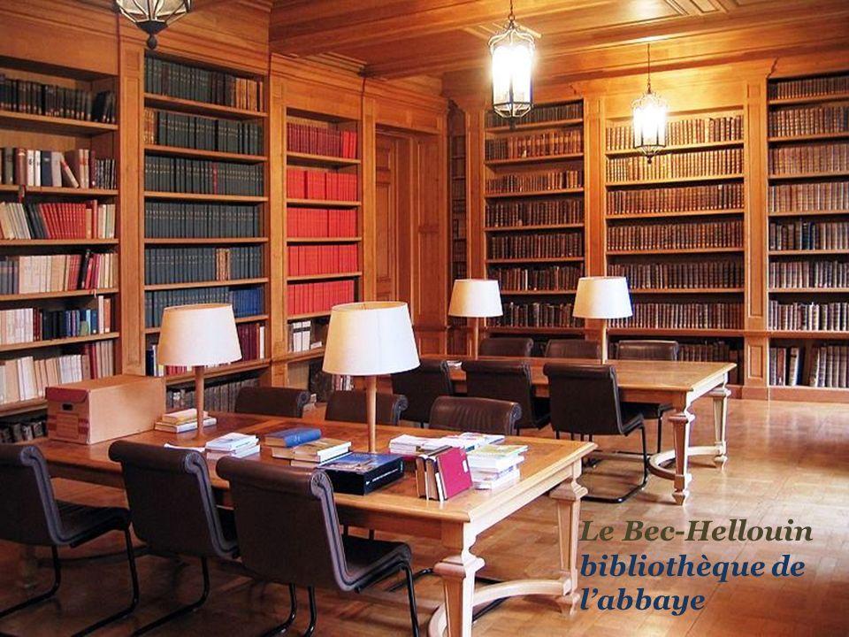 Le Bec-Hellouin bibliothèque de l'abbaye