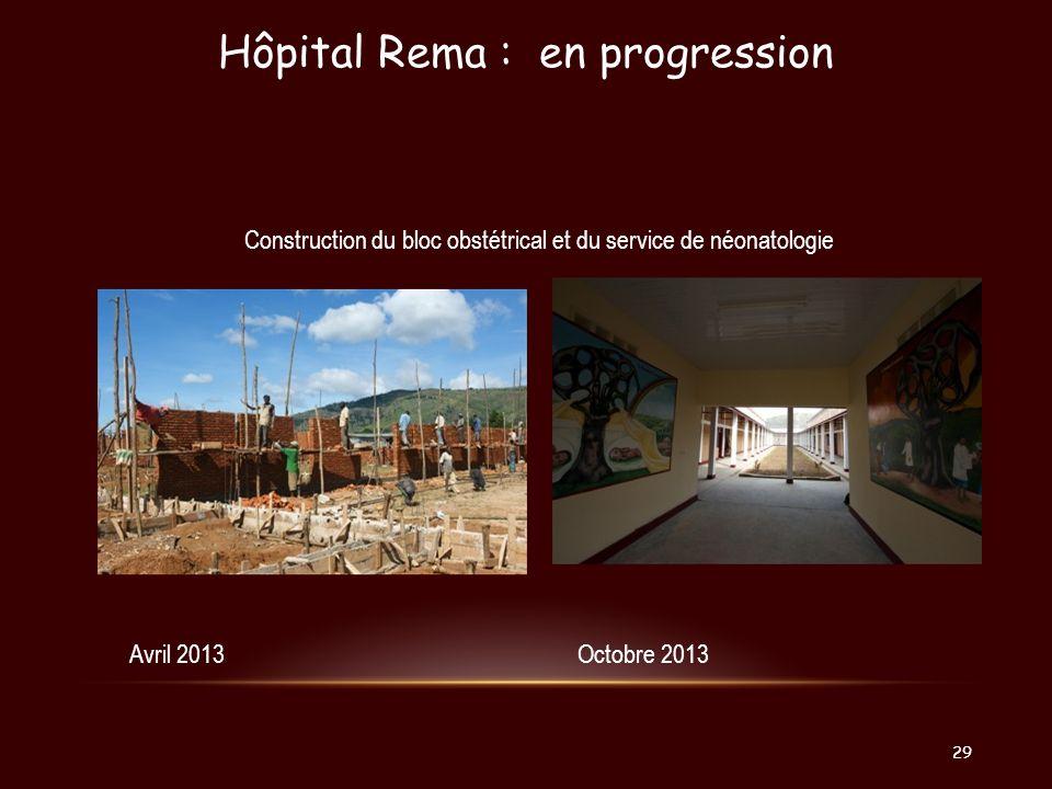 Hôpital Rema : en progression