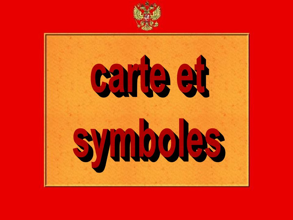carte et symboles
