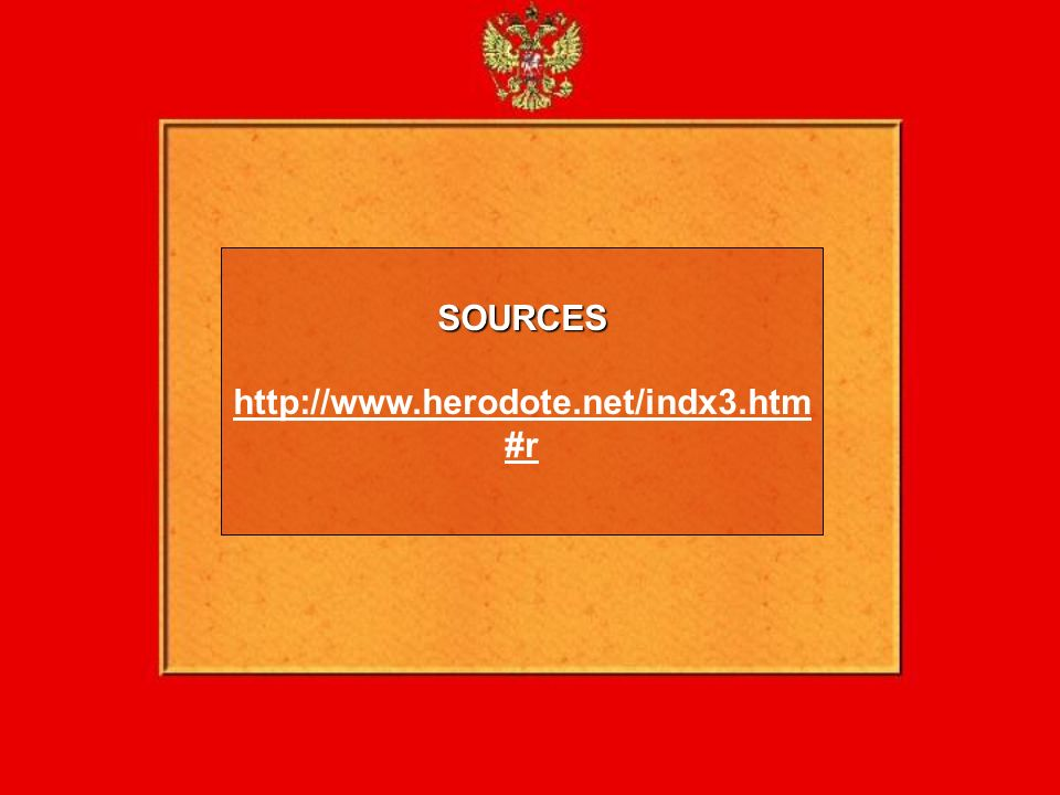 SOURCES http://www.herodote.net/indx3.htm#r