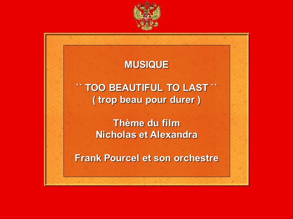 `` TOO BEAUTIFUL TO LAST `` Frank Pourcel et son orchestre