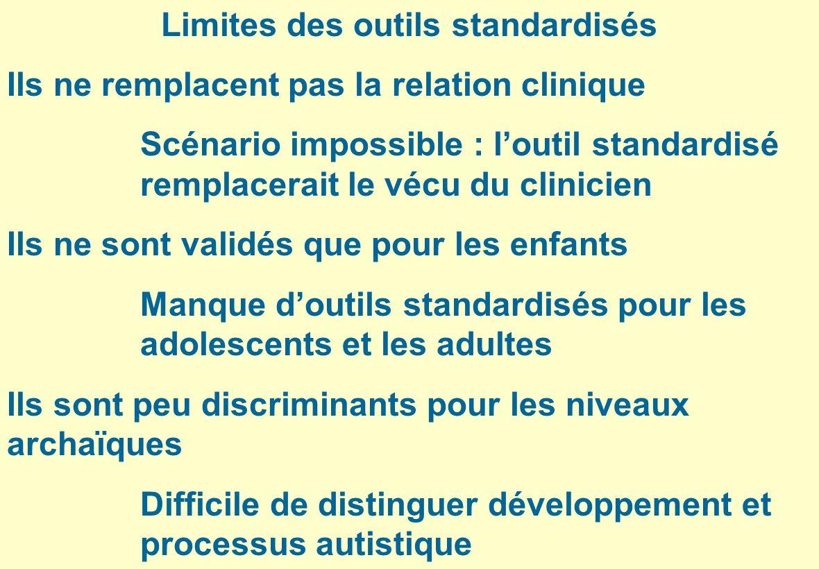 Limites des outils standardisés