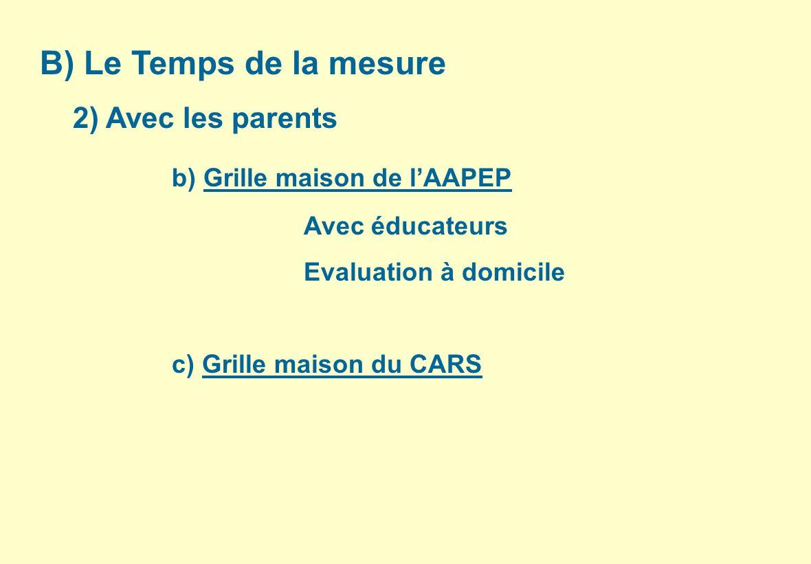 b) Grille maison de l'AAPEP