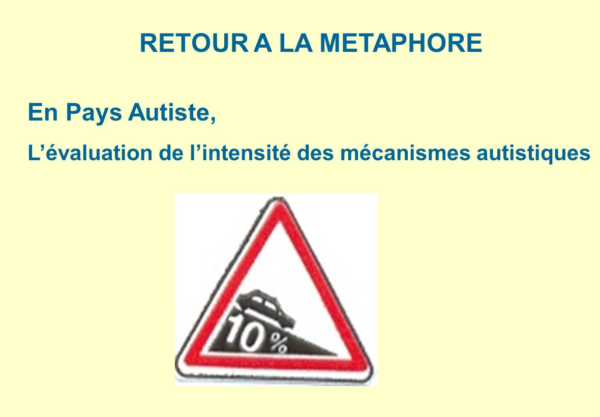 RETOUR A LA METAPHORE En Pays Autiste,