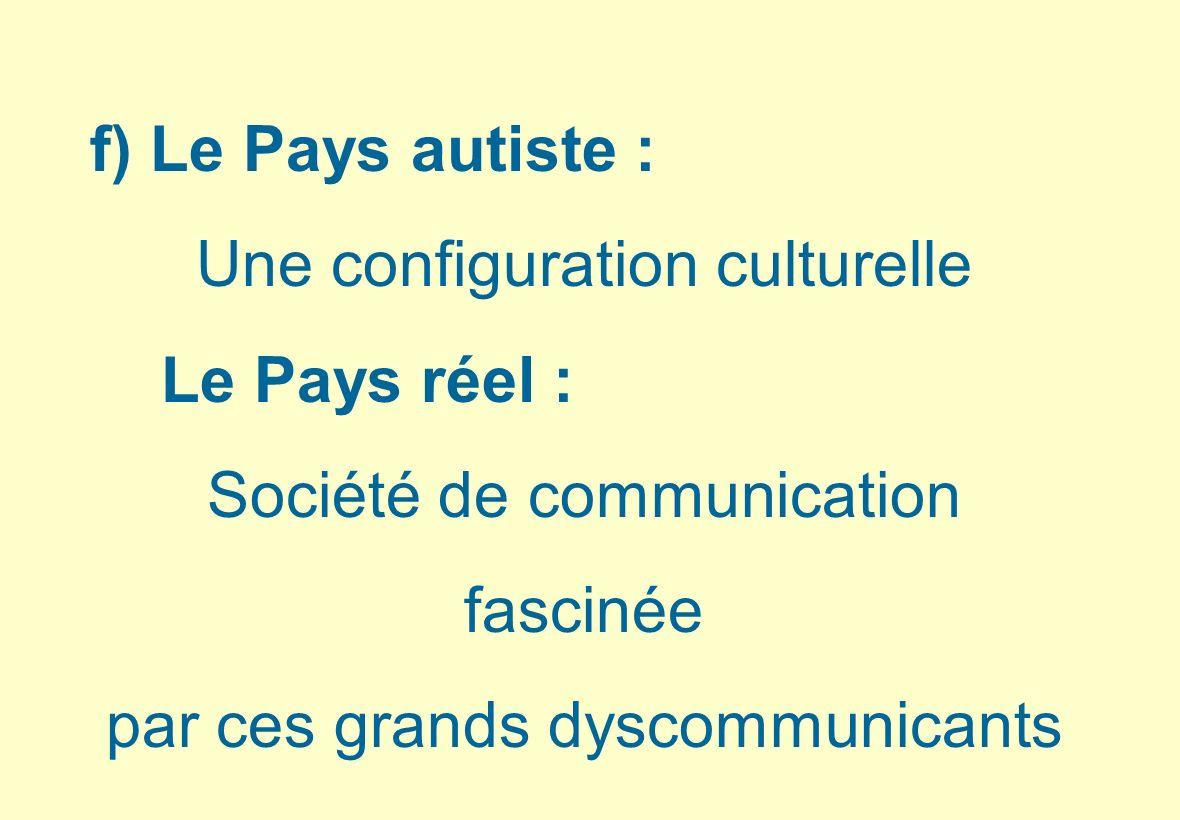 Une configuration culturelle Le Pays réel : Société de communication