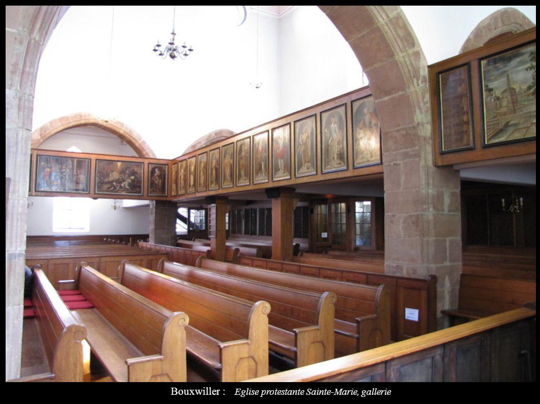 Bouxwiller : Eglise protestante Sainte-Marie, gallerie