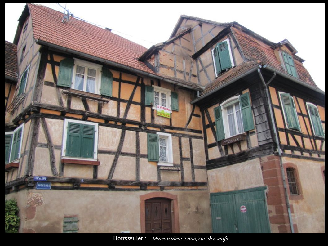 Bouxwiller : Maison alsacienne, rue des Juifs