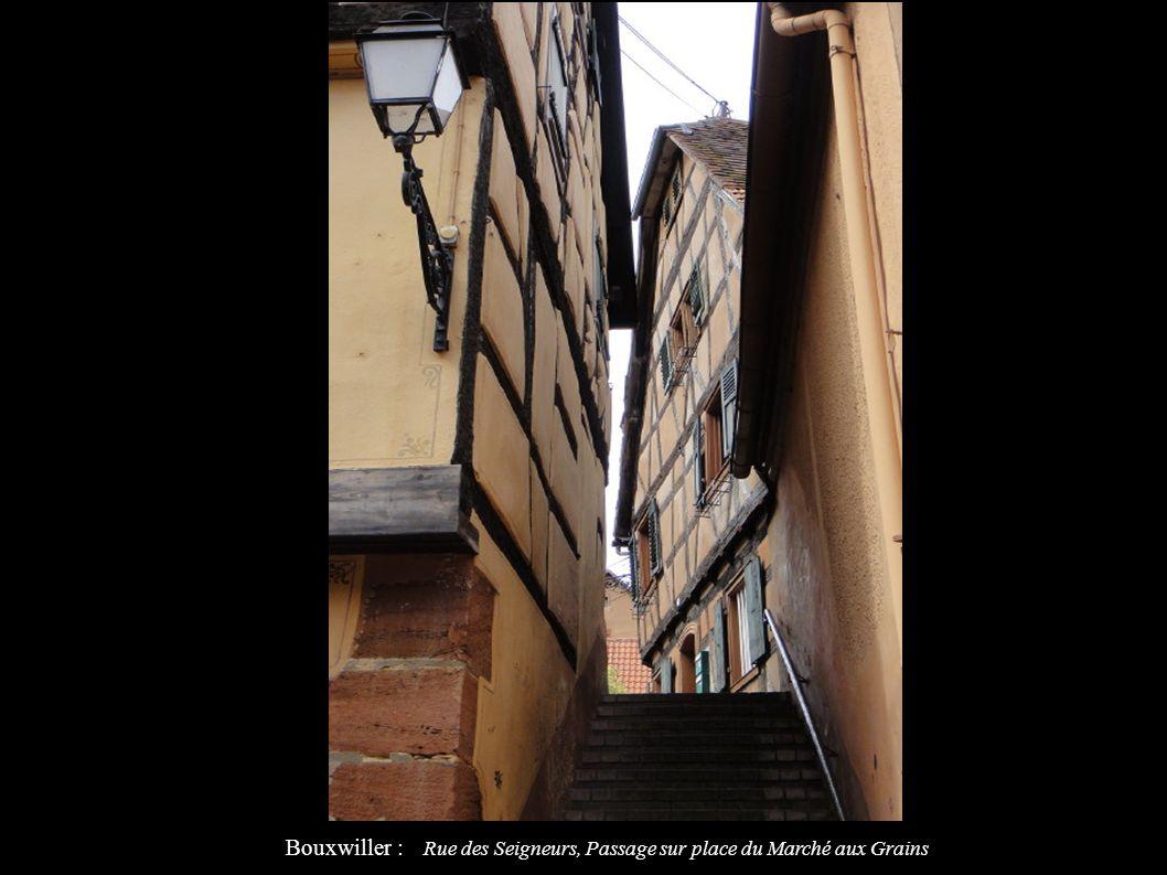 Bouxwiller : Rue des Seigneurs, Passage sur place du Marché aux Grains