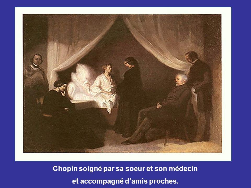 Chopin soigné par sa soeur et son médecin
