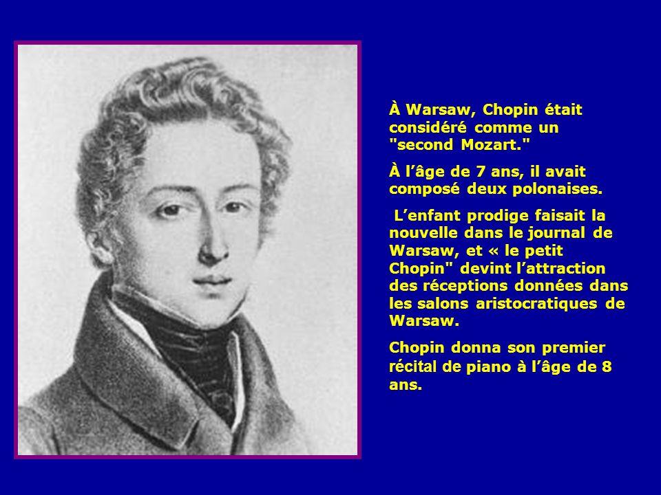 À Warsaw, Chopin était considéré comme un second Mozart.