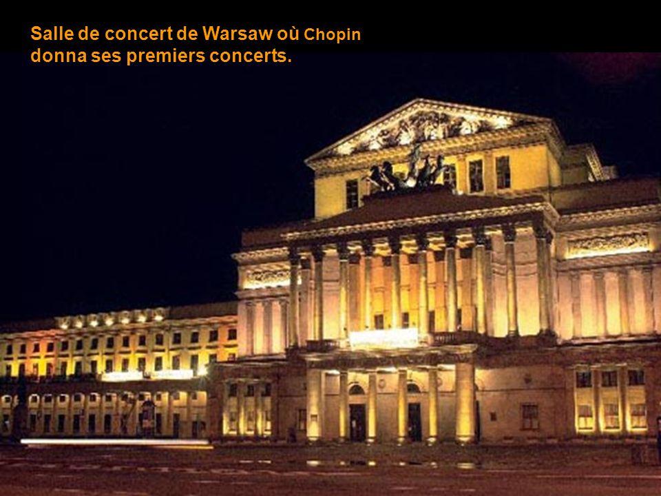 Salle de concert de Warsaw où Chopin donna ses premiers concerts.