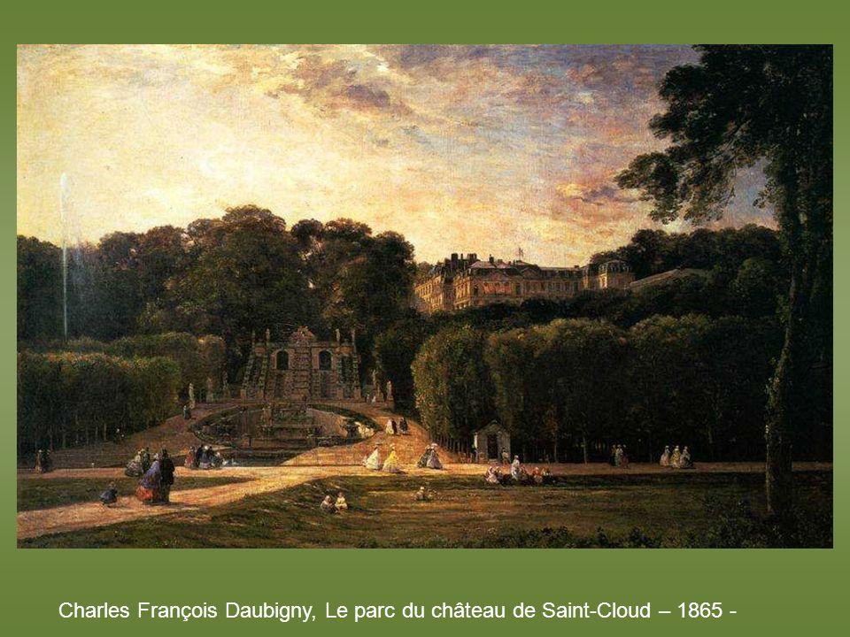 Charles François Daubigny, Le parc du château de Saint-Cloud – 1865 -
