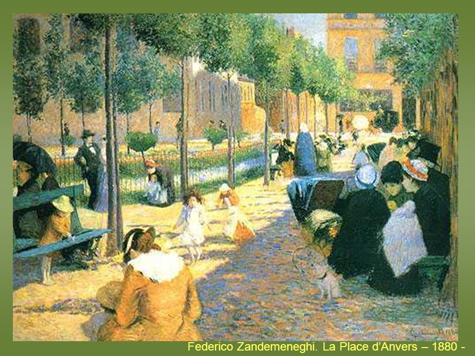 Federico Zandemeneghi. La Place d'Anvers – 1880 -