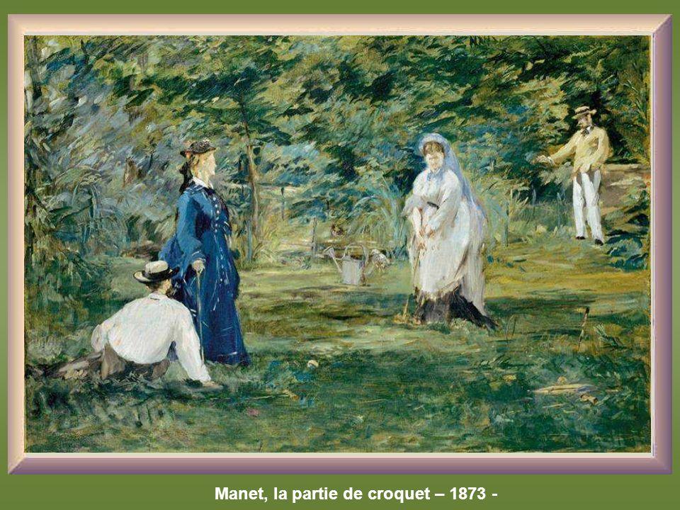 Manet, la partie de croquet – 1873 -