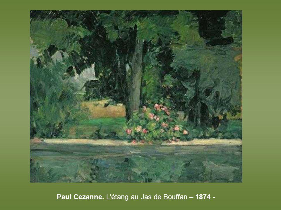 Paul Cezanne. L'étang au Jas de Bouffan – 1874 -