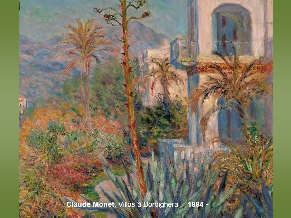 Claude Monet. Villas à Bordighera - 1884 -