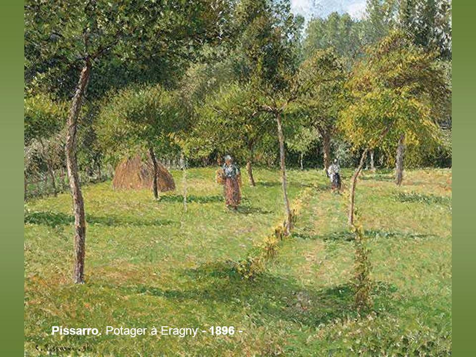 Pissarro. Potager à Eragny - 1896 -