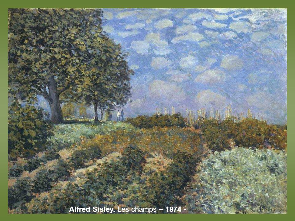 Alfred Sisley. Les champs – 1874 -