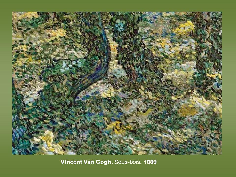 Vincent Van Gogh. Sous-bois. 1889