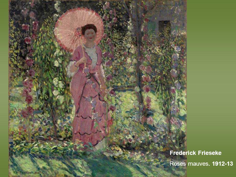 Frederick Frieseke Roses mauves. 1912-13