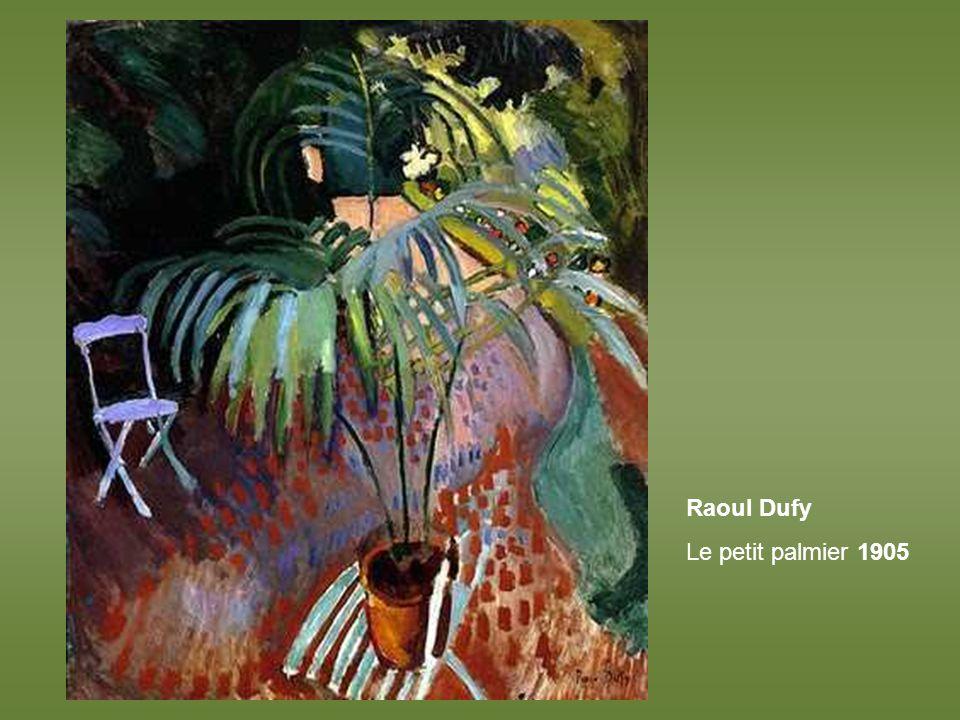 Raoul Dufy Le petit palmier 1905