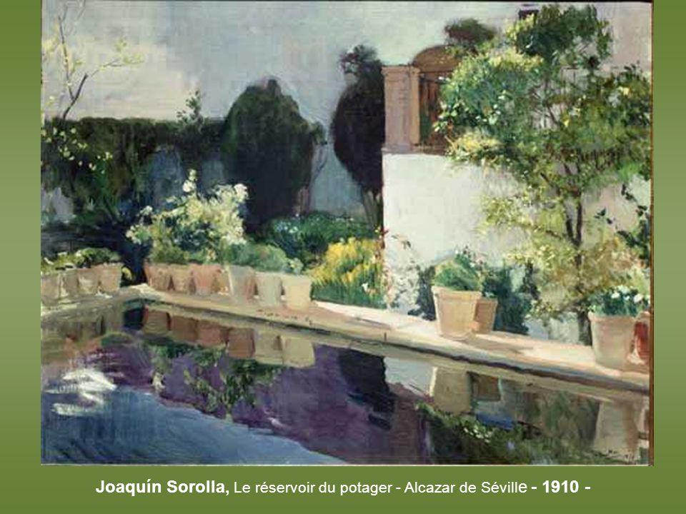 Joaquín Sorolla, Le réservoir du potager - Alcazar de Séville - 1910 -