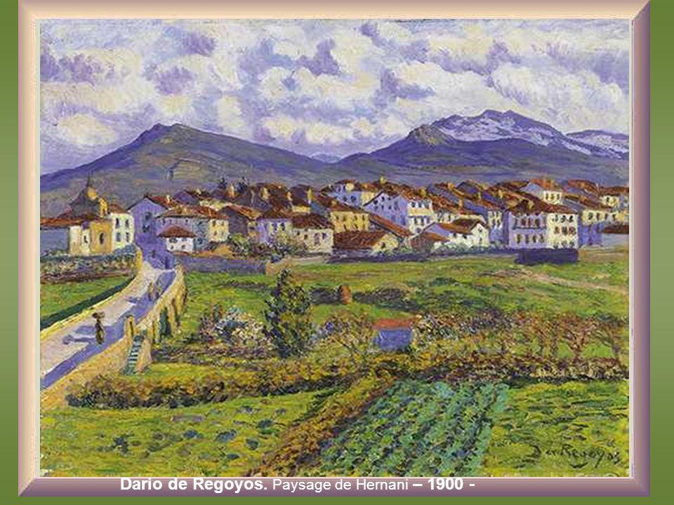 Dario de Regoyos. Paysage de Hernani – 1900 -