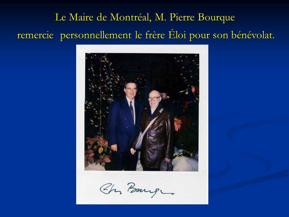 Le Maire de Montréal, M. Pierre Bourque