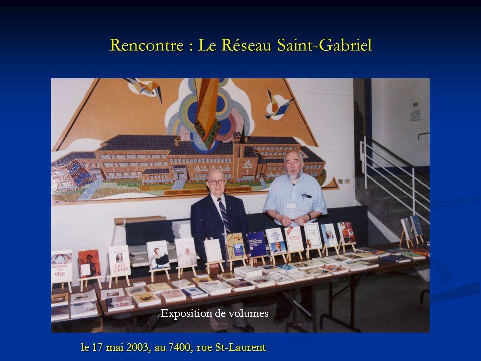 Rencontre : Le Réseau Saint-Gabriel