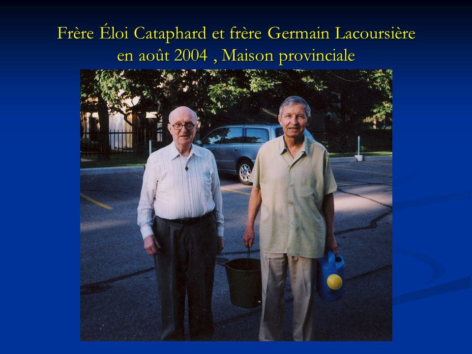Frère Éloi Cataphard et frère Germain Lacoursière en août 2004 , Maison provinciale