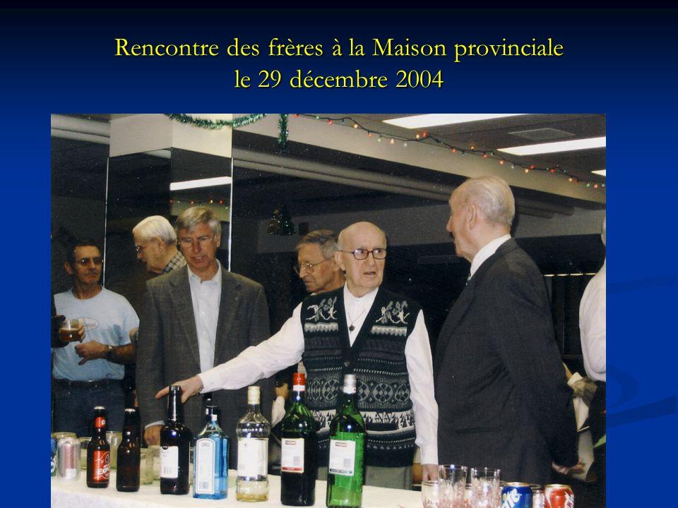 Rencontre des frères à la Maison provinciale le 29 décembre 2004
