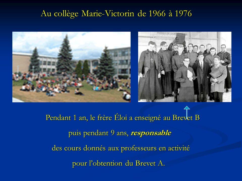 Au collège Marie-Victorin de 1966 à 1976
