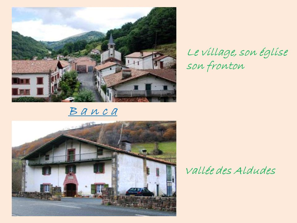 Le village, son église son fronton