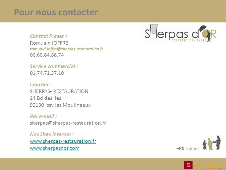 Pour nous contacter Contact Presse : Romuald JOFFRE 06.60.64.86.74
