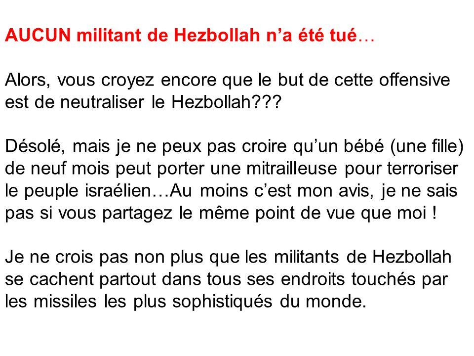AUCUN militant de Hezbollah n'a été tué…